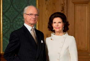 Swedish King Carl XVI Gustaf and Queen Silvia. Photo by Embassy of Sweden in Latvia