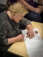 Autograph by Inese Zandere. Photo by Kristians Luhaers