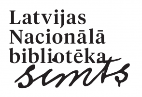 The logo of the National Library of Latvia's One Hundred Years Anniversary in Latvian