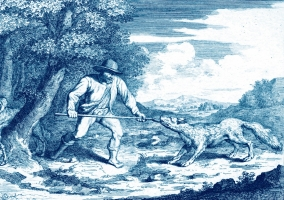 Picture: Abraham Bloteling (1640–1690). Good Shepherd. By the original of Pieter Bruegel I