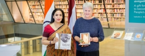 From left: Ambassador of India to Latvia and Sweden Monika Kapil Mohta, NLL Executive Director Dzintra Mukāne